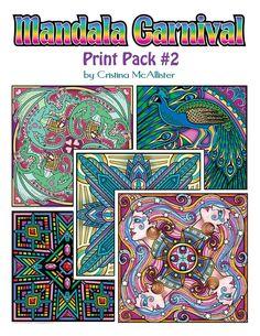 Mandala Carnival Print Pack #2 by Cristina McAllister - Digital Download