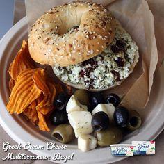 "Say ""hello"" to tomorrow's lunch! Greek Cream Cheese + Sun-dried tomatoes + Pesto = #Savory #Yummy #Healthy"