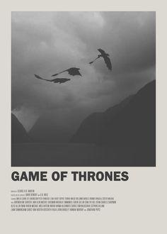 Game of Thrones Minimal TV Poster  https://society6.com/earlofgrey