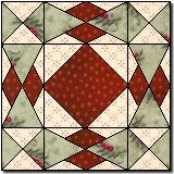 Harlequin Quilt Block - Christmas