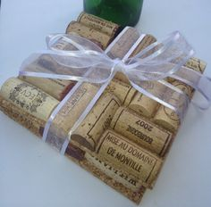 Wine Cork Trivets Set of 2 Wine Cork Crafts by MaxplanationPhotos, $12.00