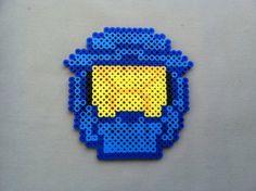 5210f99be Perler Bead Halo Helmet by TwinDeerDesigns on Etsy Hama Beads Patterns