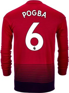 62b4c8b53d0 2018 19 adidas Paul Pogba Manchester United L S Home Jersey