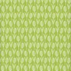 Carolyn Gavin Wild Thyme - Flowers, Green - $8.95 per yard