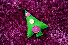 Vánoční ozdoby z filcu #vanocnidekorace