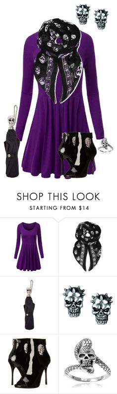 """""""Simple Goth"""" by ghost1318 on Polyvore featuring WithChic, Alexander McQueen, Philipp Plein and Journee Collection"""
