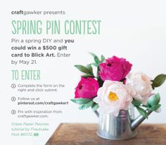 Be sure to enter by May 21! Check out the 3 simple steps. diy art