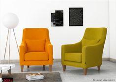 Πολυθρόνες Magic σε πορτοκαλί και πράσινο χρώμα