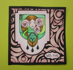 Judith@Poppy Cottage - Handmade card using Chocolate Baroque latest released rubber stamps.