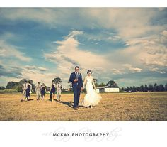 Laura & Stefan's bridal party stepping out across the fields at @pialligoestate in Canberra.  #mckayphotography #pialligoestate  #pialligoestatewedding #canberra #canberrawedding #wedding #photographer @pialligoestate_weddings