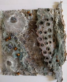 Inspired by the natural environment Textile Fiber Art, Textile Artists, Fibre Art, Organic Forms, Close Up Art, Art Alevel, Coral Art, Painting Courses, Textile Fabrics