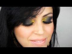 Aumado Negro y Dorado - Maquillaje de Noche para Ocasion Especial - YouTube