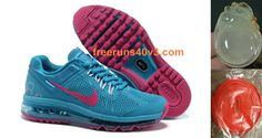 Womens Nike Air Max 2013 Blue Red Shoes