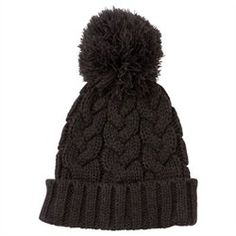 Cable Knit Hat - Charcoal Heather