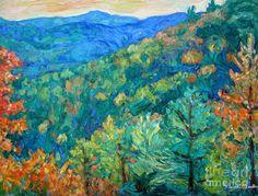 Blue Ridge Autumn Painting  - Blue Ridge Autumn Fine Art Print