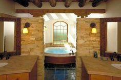 rustic master bathroom ideas | More Images for Archaeo Architects - New Mexico's Home Directory: home ...