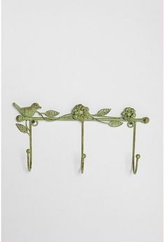 bird and flower wall hook necklaces 18 bedroom pinterest decorative wall hooks decorative walls and flower wall