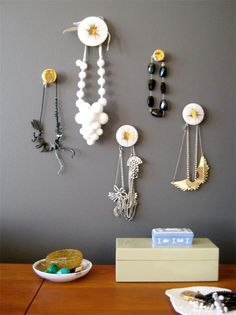 Display/store jewelry in a color-conscious way for instant decor.