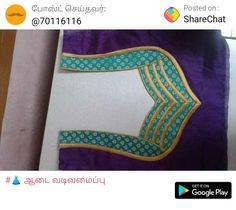 Patch Work Blouse Designs, Simple Blouse Designs, Stylish Blouse Design, Chudidhar Neck Designs, Dress Neck Designs, Sleeve Designs, Saree Blouse Neck Designs, Designer Blouse Patterns, Neckline