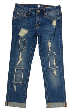7 For All Mankind® 'Josefina' Boyfriend Jeans (Little Girls)