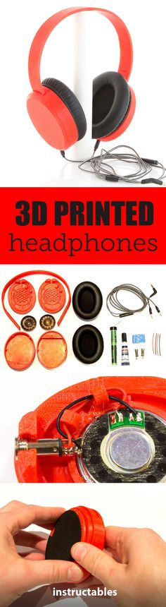 This simple tutorial will teach you how to 3D print a pair of working headphones.