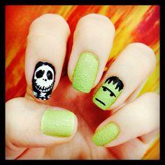 Halloween nail art! Spooky
