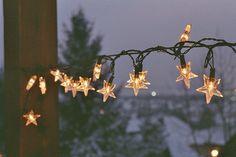 christmas, holidays, lights, night, stars