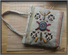 """Купить Сумка из мешковины """"Этно-стиль"""" - бежевый, абстрактный, сумка, сумка женская"""
