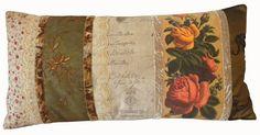 Beautiful handmade pillow by Rachel van Asch!