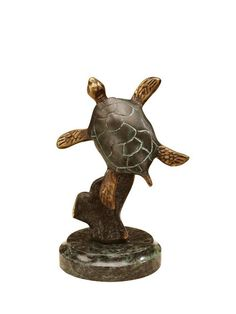 Playful Sea Turtle Figurine