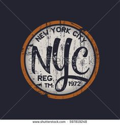 Vector illustration on a theme of New York City. Vintage design. Grunge background. Stamp typography, t-shirt graphics, poster, banner, print, flyer, postcard