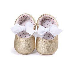 Baru lahir Bayi Moccasin Sepatu Bawah Lembut PU Kulit Bayi Balita Sepatu Bayi Pertama Walkers