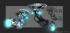 Image result for ceiling turret gun design