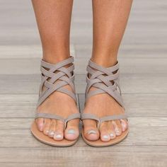 Sandals - Ladies Ankle Strap Flats Sandals(Buy 2, second one 10% off) 438651bb99