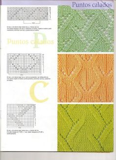 SOLO PUNTOS: puntos calados tricot