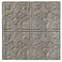 Traditional 2 Cross Hatch Silver Ceiling Tile - 2x2