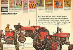 Massey Ferguson Brochure Ford Tractors, Red Pictures, Vintage Tractors, Old Signs, Brochures, Vintage Ads, Farms, Literature, Monster Trucks