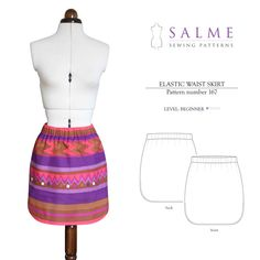 Digital Sewing Pattern - Elastic Waist Skirt