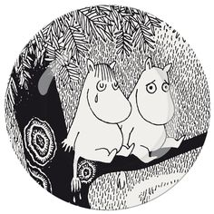 "DESSERT PLATE - MOOMiN ""LiFE iS HARD"""