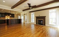Madison - Stained Beams in Family Room