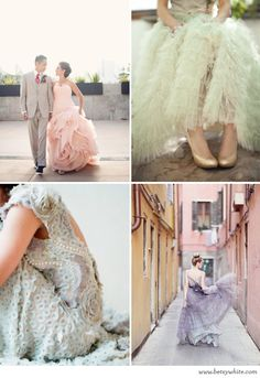 Not So White Nuptials - I want a white dress but these are just so gorgeous!