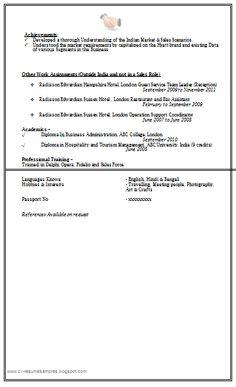 sales marketing resume sample doc