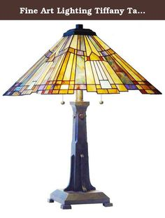 Fine Art Lighting Tiffany Table Lamp, 16 by 25-Inch, 252 Glass Cuts. Traditional and contemporary elements combine to create a timeless look with the stylish design of this lamp by Fine Art Lighting. An eye-catching complement to any home that will easily blend with your home decor scheme. Featuring hand-crafted stained glass, any visitor will be amazed at the look and feel created by this piece as it brightens your home, and your life, with beauty and elegance.