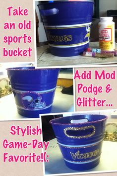 e3f1932bb An old NFL Minnesota Vikings bucket turned