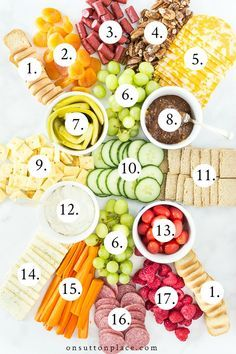 The Anatomy Of A Charcuterie Board - - See how to put together a simple charcuterie board for your next party or family gathering. Includes ideas for presentation and food items. Charcuterie Recipes, Charcuterie And Cheese Board, Charcuterie Platter, Cheese Boards, Crudite Platter Ideas, Charcuterie Wedding, Charcuterie Picnic, Grazing Platter Ideas, Charcuterie Display