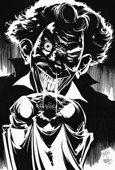 black and white Batman artwork by Kelley Jones. | Comic Art and ...