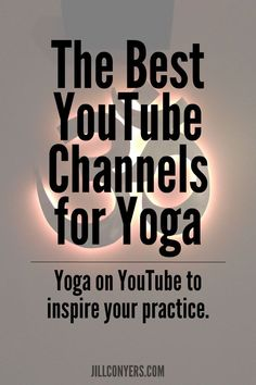 A guide to some of the best YouTube channels for yoga. Can't wait to check some of these out for my next workout! #Yoga@Home