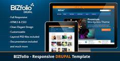 BizFolio Responsive Unique DRUPAL Theme