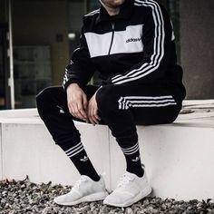Conju to masxnsk Looks Adidas, Urban Fashion, Mens Fashion, Track Suit Men, Sport Outfit, La Mode Masculine, Adidas Fashion, Adidas Outfit, Swag Outfits