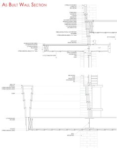 Design of Details: Frank Lloyd Wright's Affleck House | Sara Horn | Archinect New Architecture, Architecture Drawings, Architecture Details, Japanese Architecture, Craftsman Columns, Craftsman House Plans, Section Drawing, Usonian, Construction Drawings